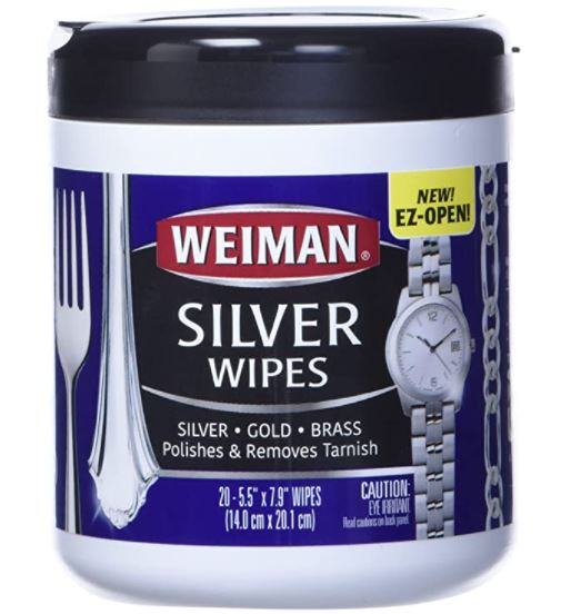 How to Clean Copper Jewelry: Weiman silver wipes