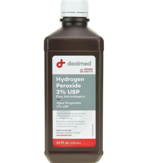 How to Get Playdough Out of Carpet: hydrogen peroxide