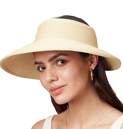 How to Make A Straw Hat: Vienna Visor Sun Straw Beach Hat