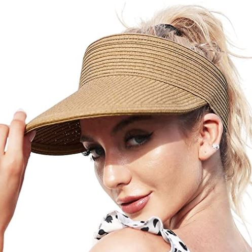 How to Make A Straw Hat: Straw Visor Hats for Women