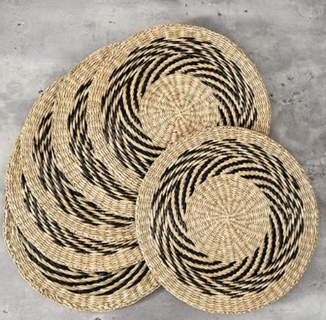 How to Make A Straw Hat: Straw Braided Placemats