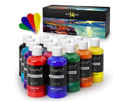 How to Make Gold Paint: Magicfly Bulk Acrylic Paint Set
